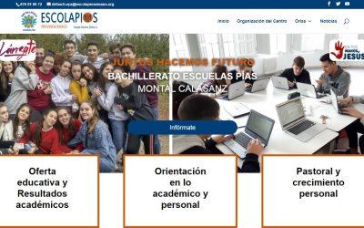 Nueva página web Bachillerato Escuelas Pías