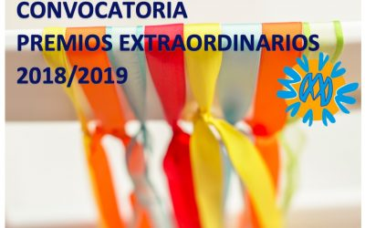 Convocatoria Premios Extraordinarios de Bachillerato 2018/2019