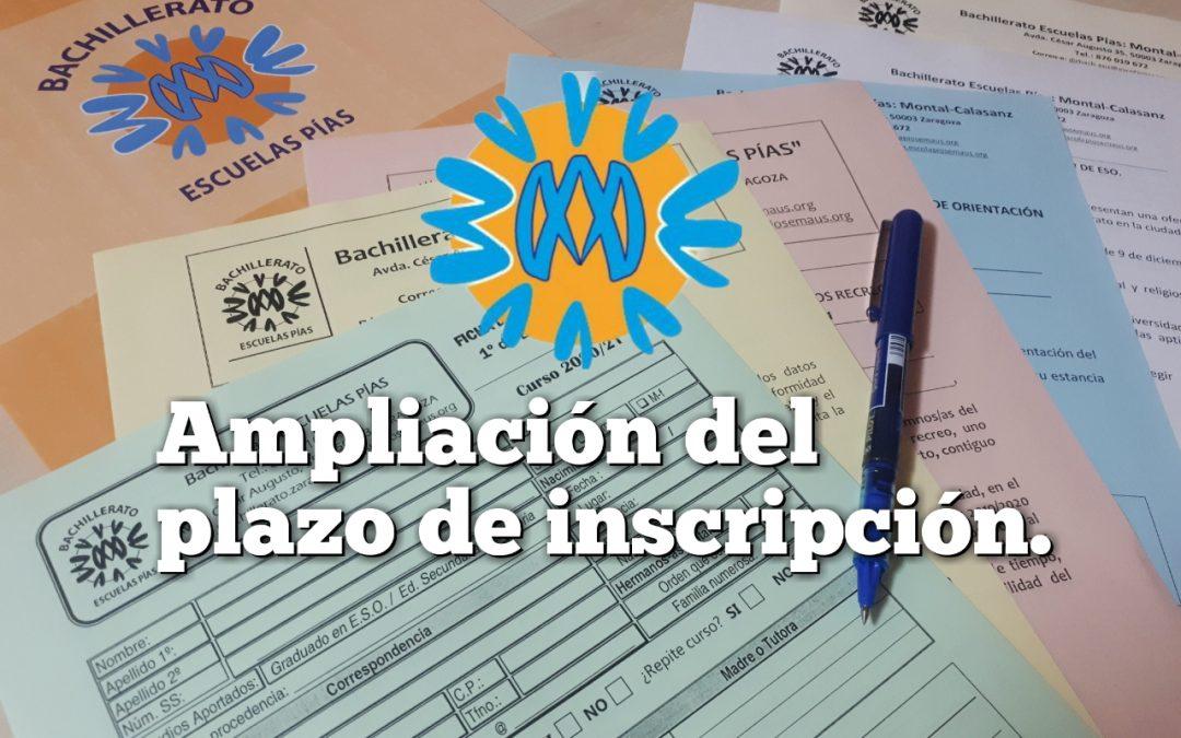 Se amplía el plazo de inscripción en Bachillerato para el próximo curso.