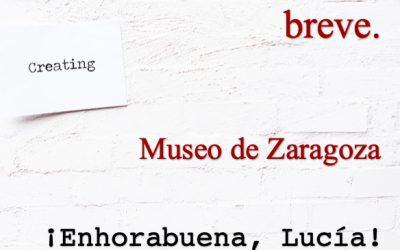 Lucía Meler, premio de relato breve en el concurso del Museo de Zaragoza.